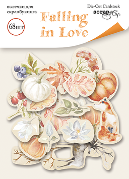 Die cut Scrapmir Falling in love  NEW