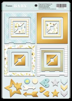 PSB-36 Chipboard foil dorado Baby Smile