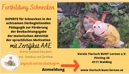 Experte Achatschnecken in der achtsamen tierbegleitenden Pädagogik - Praxis Webinar  AAE