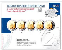 2-Euro-Gedenkmünzenset 2006 Deutschland