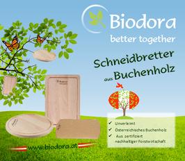 Biodora Schneidbretter aus PEFC-zertifiziertem Buchenholz aus Österreich