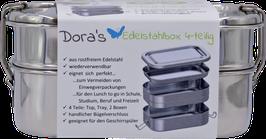 Dora's Edelstahl Lunchboxen mit Einlegefach