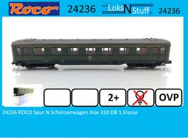 24236 ROCO Spur N Schürzenwagen Aüe 310 DB 1.Klasse