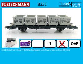 8231 8231K Fleischmann Spur N Behältertragwagen Lbs598 von Haus zu Haus DB Ep.IV