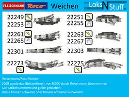 Fleischmann/ROCO Weiche ohne Bettung