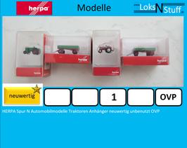 HERPA Spur N Automobilmodelle Traktoren Anhänger neuwertig unbenutzt OVP