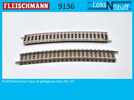 9136 Fleischmann Spur N Gebogenes Gleis R4, 15°