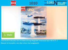 1010 BUSCH Bausatz Ufo mit Beleuchtung fliegende Untertasse Spur H0 N TT  Z