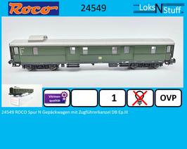 24549 ROCO Spur N Gepäckwagen mit Zugführerkanzel DB Ep.III