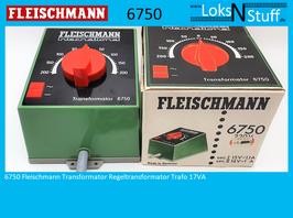 6750 Fleischmann Transformator Regeltransformator Trafo 17VA