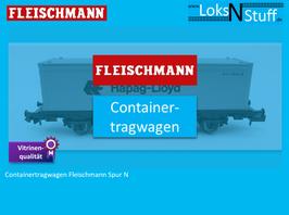 Fleischmann Spur N Containertragwagen