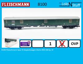 8100 Fleischmann Spur N Gepäckwagen Düms 905 DB Ep. IV