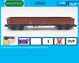 13505 Minitrix Spur N Hochbordwagen OO 48 DB Ep.III