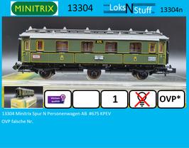 13304 Minitrix Spur N Personenwagen AB  #675 KPEV