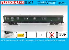8102 Fleischmann Spur N6 Postwagen Postmrz-a/26 Deutsche Bundespost