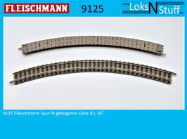 9125 Fleischmann Spur N Gebogenes Gleis R2, 45°