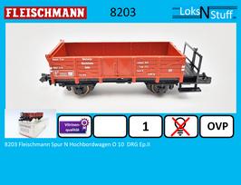 8203 Fleischmann Spur N Hochbordwagen O 10  DRG Ep.II