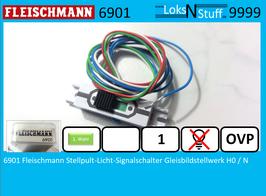6901 Fleischmann Stellpult-Licht-Signalschalter Gleisbildstellwerk H0 / N