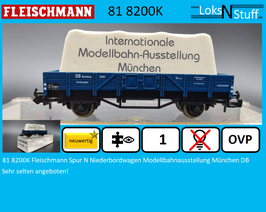 81 8200K Fleischmann Spur N Niederbordwagen Modellbahnausstellung München