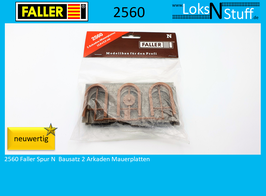 2560 Faller Spur N  Bausatz 2 Arkaden Mauerplatten