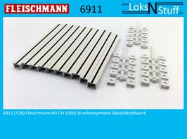 6911 (538) Fleischmann H0 / N 10Stk Streckensymbole Gleisbildstellwerk