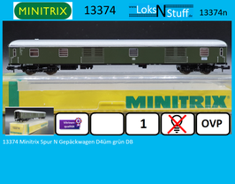 13374 Minitrix Spur N Gepäckwagen D4üm grün DB