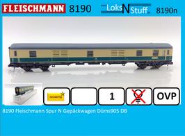 8190 Fleischmann Spur N Gepäckwagen Düms905 DB