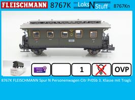 8767K FLEISCHMANN Spur N Personenwagen Citr Pr05b 3. Klasse mit Traglastenabteil