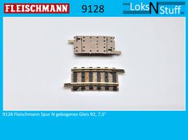 9128 Fleischmann Spur N Gebogenes Gleis R2, 7,5°