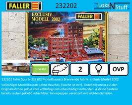 232202 Faller Spur N 232202 Modellbausatz Brennende Fabrik  exclusiv Modell 2002