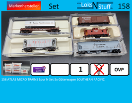 158 ATLAS MICRO TRAINS Spur N Set 5x Güterwagen SOUTHERN PACIFIC