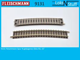 9131 Fleischmann Spur N Gebogenes Gleis R3, 15°