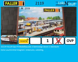 S2119 FALLER Spur N Modellbausatz 3 Bahnsteige davon 2 überdacht