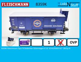 8359K Fleischmann Spur N Gedeckter Güterwagen G 10  SCHLÖSSER ALT  DB Ep.III