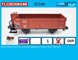 8216K Fleischmann Spur N Hochbordwagen Om Breslau 56147  DRG Ep.II