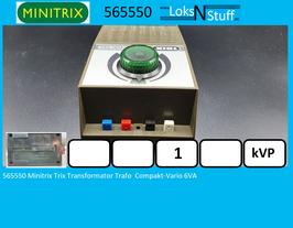 5550 Minitrix Trix Transformator Trafo  Compakt-Vario 6VA