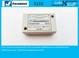 5215 Viessmann Powermodul 2A für maximale Schaltleistung von Digitaldecodern
