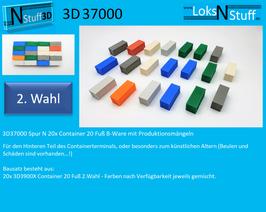 3D37000 Spur N 20x Container 20 ft B-Ware mit Produktionsmängeln