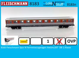 8183 Fleischmann Spur N Fernreisezugwagen Awümz207  DB 1.Klasse