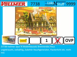 S7738 Vollmer Spur N Modellbausatz Brennendes Haus