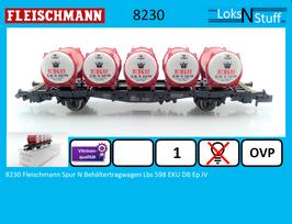 8230 Fleischmann Spur N Behältertragwagen Lbs 598 EKU DB Ep.IV