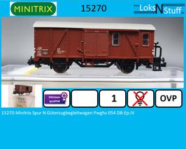15270 Minitrix Spur N Güterzugbegleitwagen Pwghs 054 DB Ep.IV
