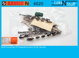 6020 Arnold Spur N Telegrafenmasten 20 Stk. Bausatz