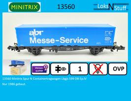 13560 Minitrix Spur N Containertragwagen Lbgjs 599 DB Ep.IV