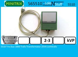 5510 Trix Duo 1800 Trafo Transformator 25VA Lichttrafo