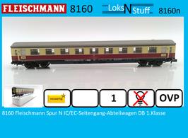 8160 Fleischmann Spur N IC/EC-Seitengang-Abteilwagen DB 1.Klasse