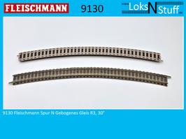 9130 Fleischmann Spur N Gebogenes Gleis R3, 30°