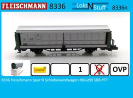 8336 Fleischmann Spur N Schiebewandwagen Hbis299 SBB PTT