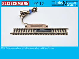 9112 Fleischmann Spur N Entkupplungsgleis elektrisch 111mm