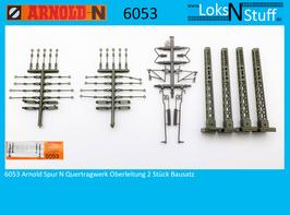 6053 Arnold Spur N Quertragwerk Oberleitung 2 Stück Bausatz